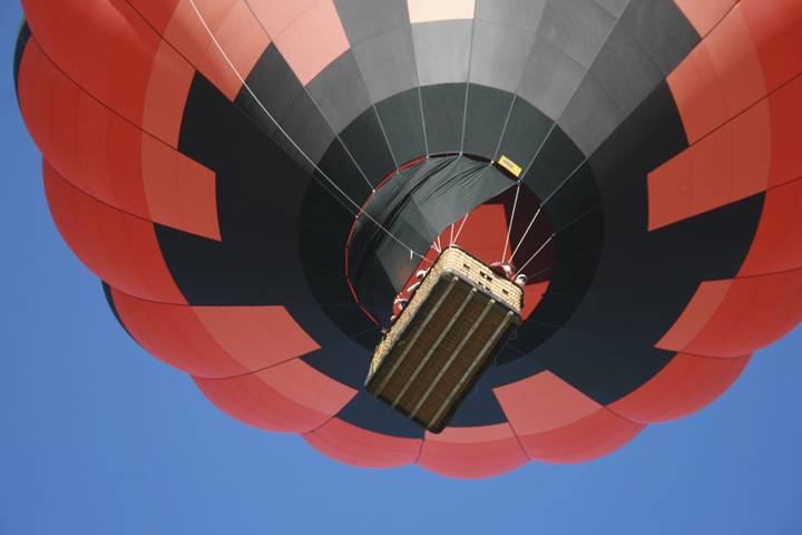 At launch of the hot-air balloon 'LadyBug', somewhere in Western Montana.